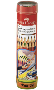 Akvarellpenna Faber-Castell i plåtburk 24 färger/burk